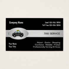 Taxi Cab Service Business Cards at Zazzle