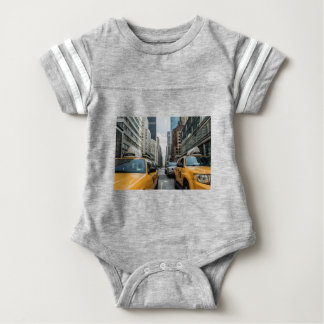 Taxi Cab Traffic Cab New York Street Road Nyc Baby Bodysuit