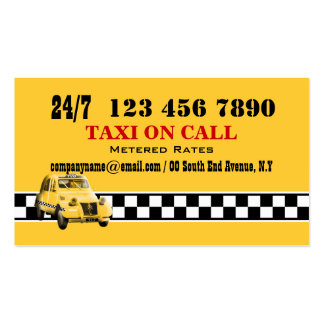 Taxi cab yellow black white #5 business card
