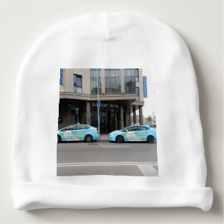 Taxi Cabs in Vilnius Lithuania Baby Beanie