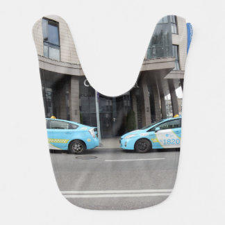 Taxi Cabs in Vilnius Lithuania Baby Bib