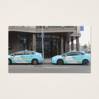 Taxi Cabs in Vilnius Lithuania Business Card