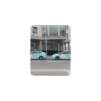 Taxi Cabs in Vilnius Lithuania Business Card Holder