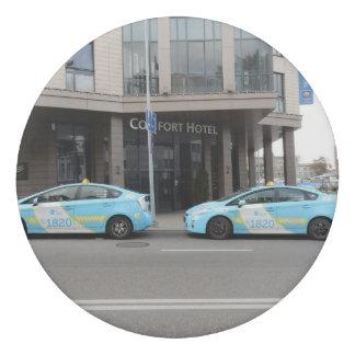 Taxi Cabs in Vilnius Lithuania Eraser