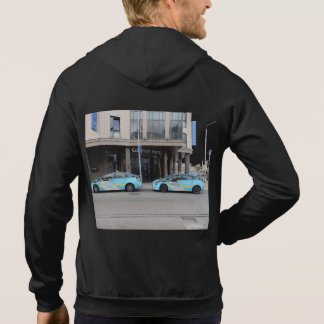 Taxi Cabs in Vilnius Lithuania Hoodie