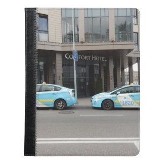 Taxi Cabs in Vilnius Lithuania iPad Case