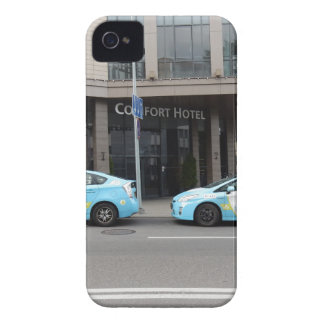 Taxi Cabs in Vilnius Lithuania iPhone 4 Cover