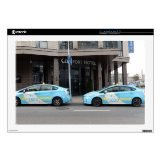 Taxi Cabs in Vilnius Lithuania Laptop Decals