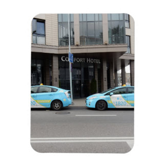 Taxi Cabs in Vilnius Lithuania Magnet