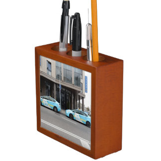 Taxi Cabs in Vilnius Lithuania Pencil Holder