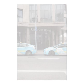 Taxi Cabs in Vilnius Lithuania Stationery