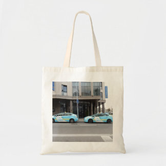 Taxi Cabs in Vilnius Lithuania Tote Bag