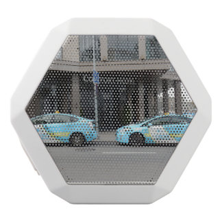 Taxi Cabs in Vilnius Lithuania White Bluetooth Speaker
