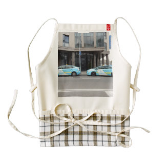 Taxi Cabs in Vilnius Lithuania Zazzle HEART Apron