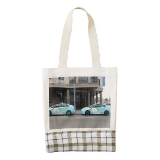 Taxi Cabs in Vilnius Lithuania Zazzle HEART Tote Bag