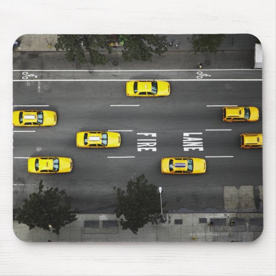 Taxi Cabs Mouse Pad
