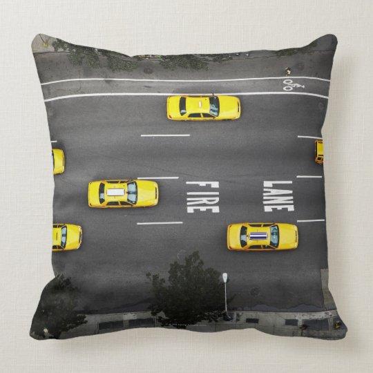 Taxi Cabs Throw Pillow
