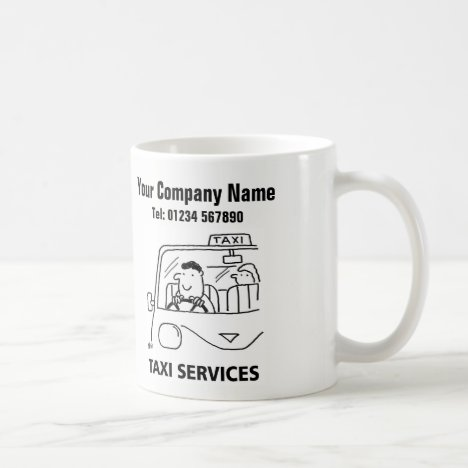Taxi & Car Hire Services Cartoon Mug