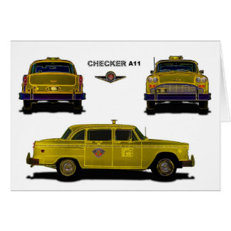 Taxi - Checker Greeting Cards