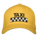 TAXI Checkered Embroidered Baseball Cap
