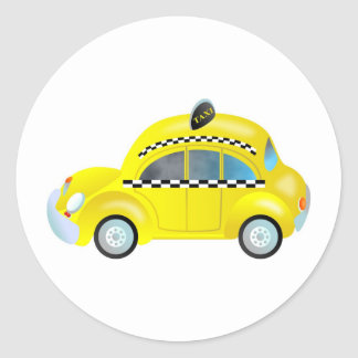 Taxi Classic Round Sticker