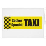 Taxi cocker spaniel tarjeta