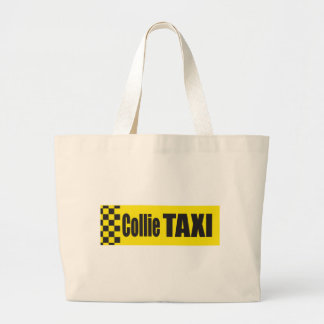 Taxi Collie Tote Bags
