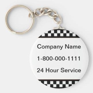 Taxi Company Keychain
