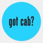 ¿taxi conseguido? pegatina redonda