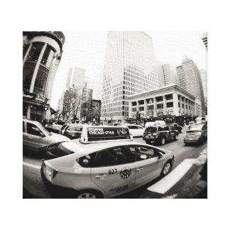 Taxi de Chicago Lienzo Envuelto Para Galerias