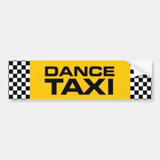 Taxi de la danza pegatina de parachoque