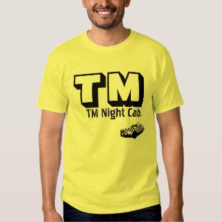 Taxi de la noche de TM. CAMISETA Remera