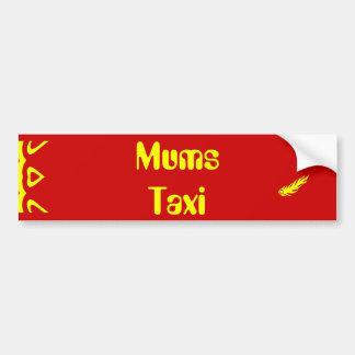 Taxi de las momias etiqueta de parachoque