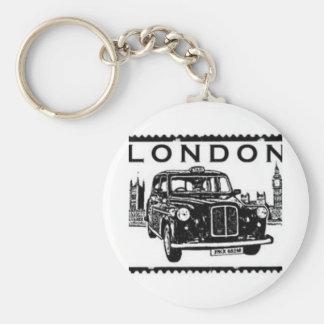 Taxi de Londres Llavero Redondo Tipo Pin