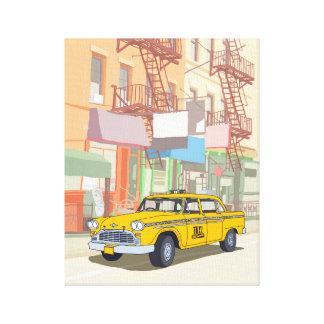 Taxi de Nueva York Impresión De Lienzo