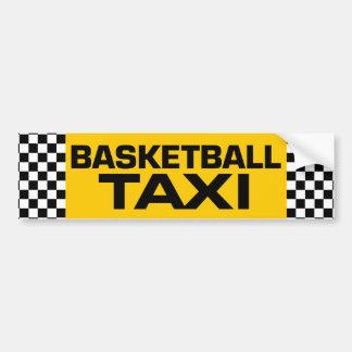 Taxi del baloncesto pegatina de parachoque