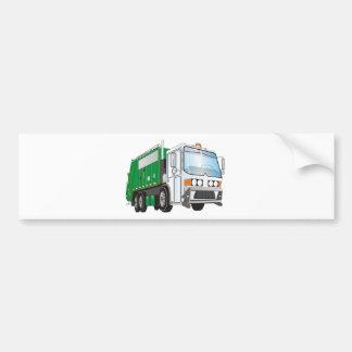 taxi del blanco del verde del camión de basura 3d pegatina para auto