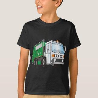 taxi del blanco del verde del camión de basura 3d playera