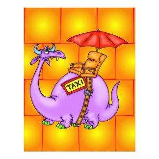 """Taxi del dragón folleto 8.5"""" x 11"""""""