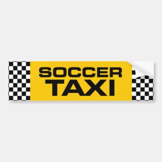 Taxi del fútbol pegatina de parachoque