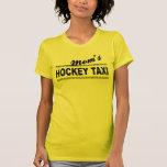 Taxi del hockey de la mamá camisetas