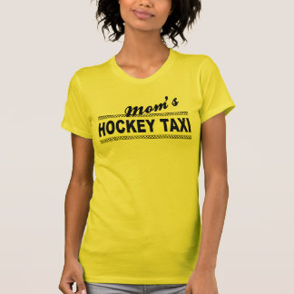 Taxi del hockey de la mamá playeras