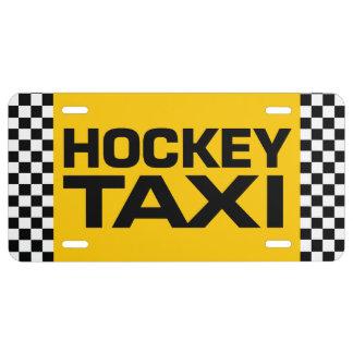 Taxi del hockey placa de matrícula