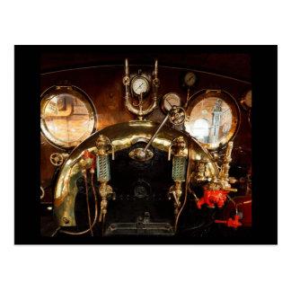 Taxi del motor de vapor postales