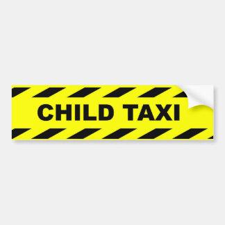 Taxi del niño. Pegatina divertido - perfeccione pa Etiqueta De Parachoque