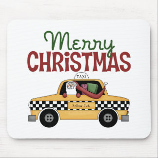 Taxi Driver Christmas Mouse Pad