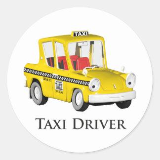 Taxi Driver Classic Round Sticker