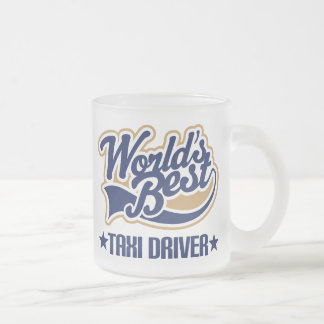 Taxi Driver Gift 10 Oz Frosted Glass Coffee Mug