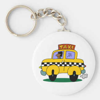 Taxi Driver Keychain