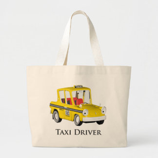 Taxi Driver Large Tote Bag